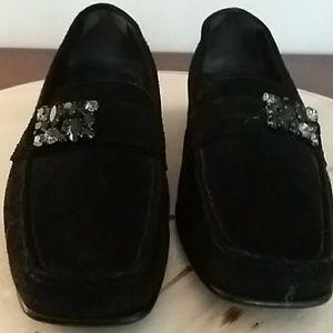 Women's slip-on velvet loafer 6M
